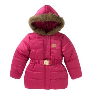 Juicy Couture Puffer Jacket Faux Fur D6